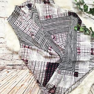 NYDJ Geometric Surplice Blouse L